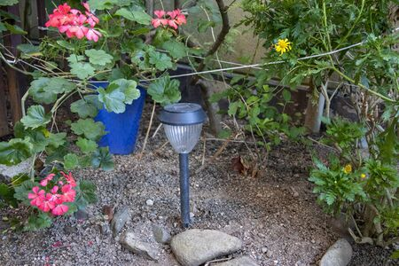 Garden with garden light solar Reklamní fotografie