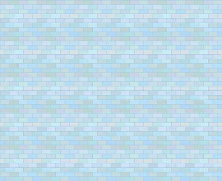 Block pattern-blue