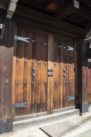 Wooden gate of Japanese temple