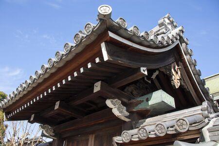 Japanese temple gate tile roof Reklamní fotografie