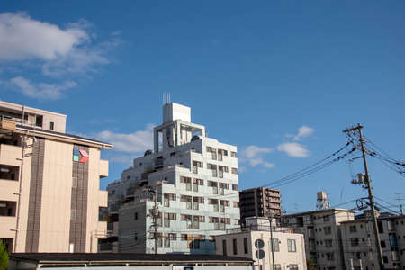 Landscape with Japanese apartment