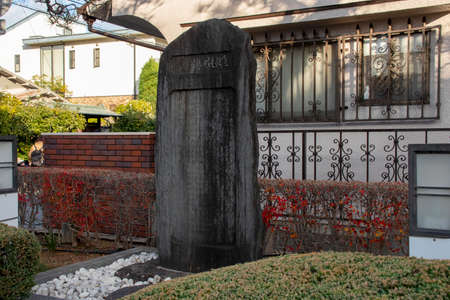 Monument Kijinawate Which Carved Japanese Legend in Japan Redakční