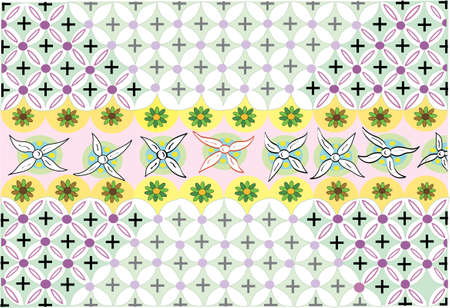 Flower Dance:  textile pattern vector illustration Stock Vector - 2146111