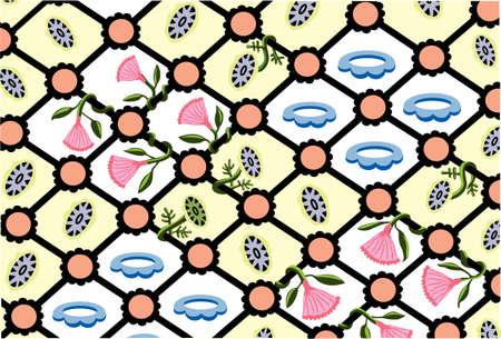 Iron Vine:  textile pattern vector illustration