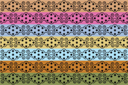 Wallpaper:  textile pattern vector illustration