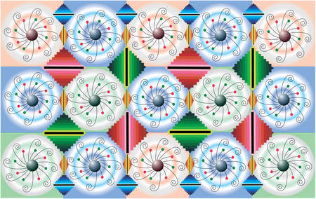 ChristmasHanukkah:  textile pattern vector illustration