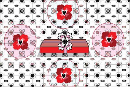 Valentines Day Gift:  pattern vector illustration