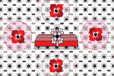 Valentines Day Gift:  pattern vector illustration