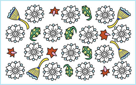 White Flowers: pattern vector illustration Illustration