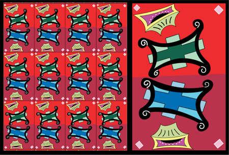 Twin Hassocks:  vector pattern illustration