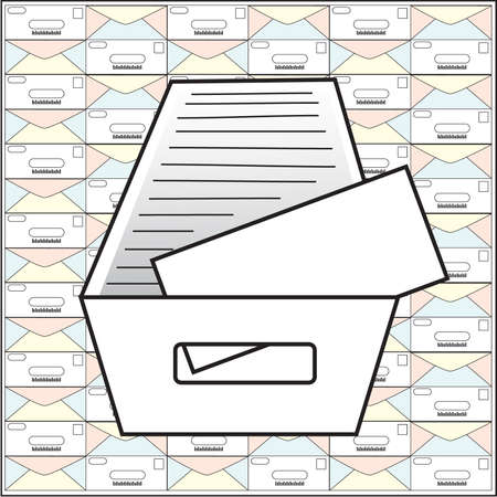 Mail Tray: Vector illustration and pattern