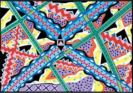 Rits: vector illustratie en patroon