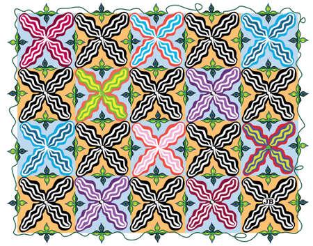 Pattern:  X Chromosome Garden Vector