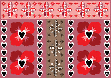 Be My Valentine Pattern Illustration