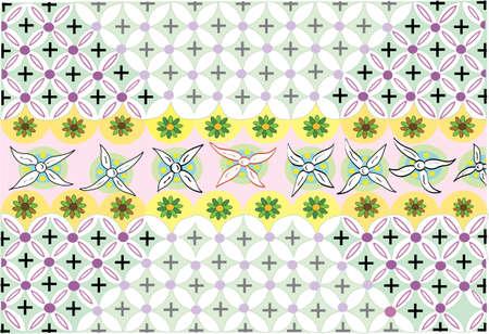 花のダンス パターンの図面をベクトル