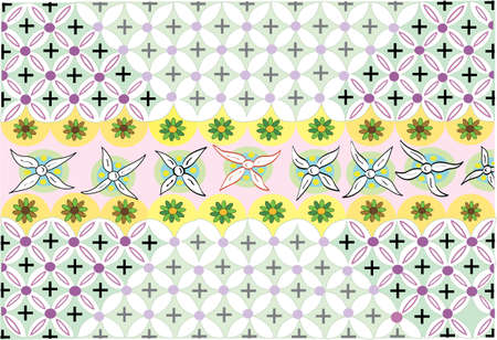 Flower Dance  - Pattern - Vector Drawing Illustration