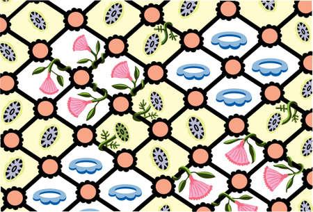 Iron Vine  - Pattern - Vector Drawing
