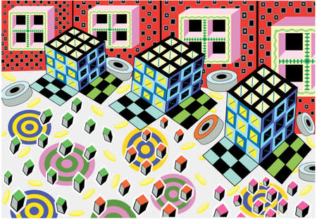Moving Day  - Pattern - Vector Drawing
