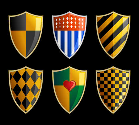 set of medieval shields Vector