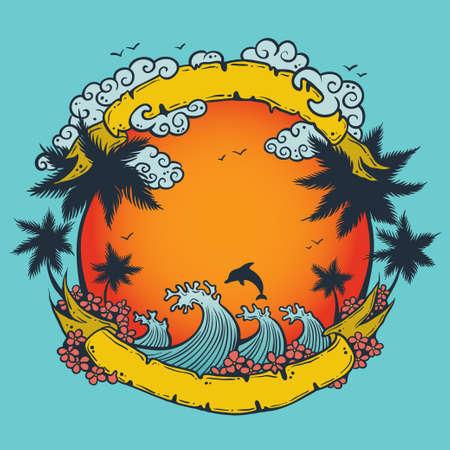 Ilustraci�n de la composici�n de verano