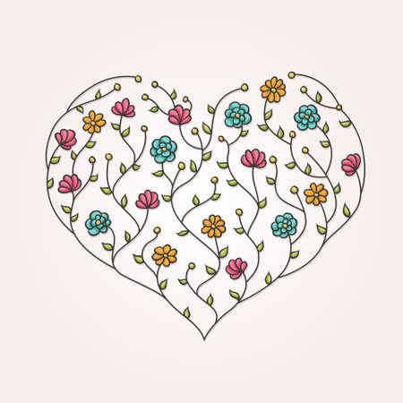 halm: Illustration of floral heart Illustration