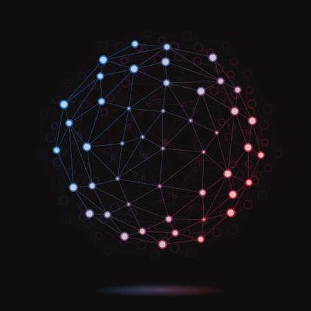 Ilustración de la esfera atómica vector moderna