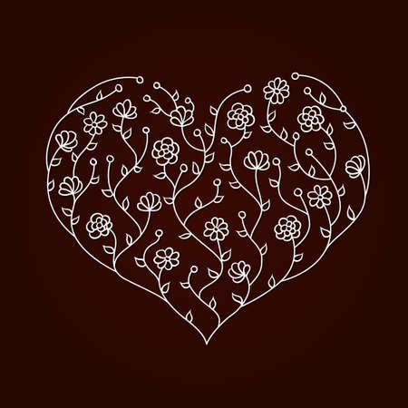 halm: Illustration of flowers heart Illustration