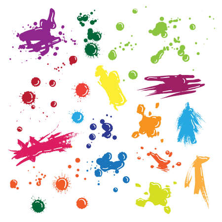 muddy: Illustration of isolated vector colored drops set Illustration