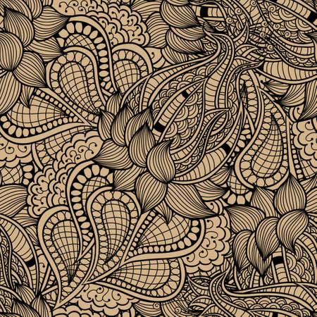 Vector abstract decorative vintage vivid wave pattern Vector