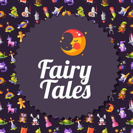 Vector modern flat design fairy tales and magic flyer template