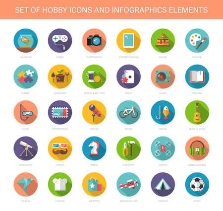 cantando: Conjunto de vectores de diseño plana iconos afición modernas y infografías elementos Vectores