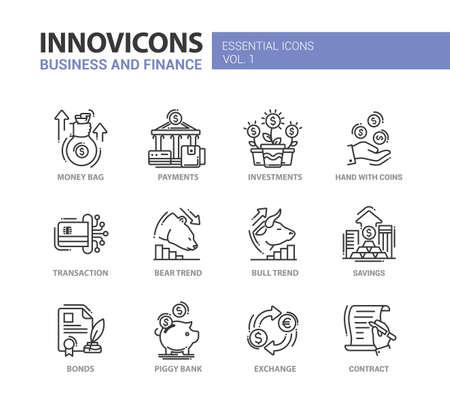 現代ベクトル事務所細い線フラットなデザイン アイコンやピクトグラムのセットです。ビジネスと金融のインフォ グラフィック オブジェクトと web