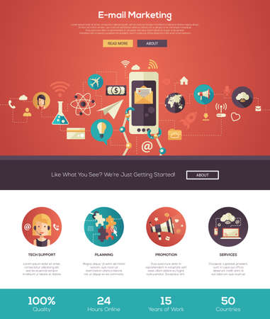 3,088 Website Header Marketing Stock Illustrations, Cliparts And ...