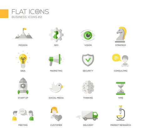 marketing research: Set of modern vector office thin line flat design icons and pictograms. Marketing, customer, consulting, market, research, strategy, time, delivery, meeting