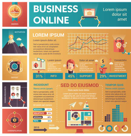 filler: Business Online - poster, brochure cover template
