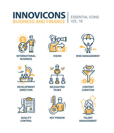 finance icons: Business, finance modern thin line design icons and pictograms