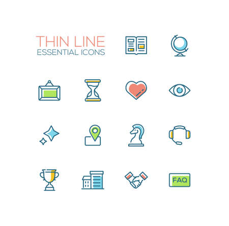 geotag: Business - Thin Single Line Icons Set