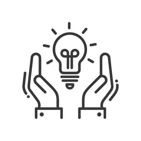new idea: New Idea or Concept - vector modern line design icon