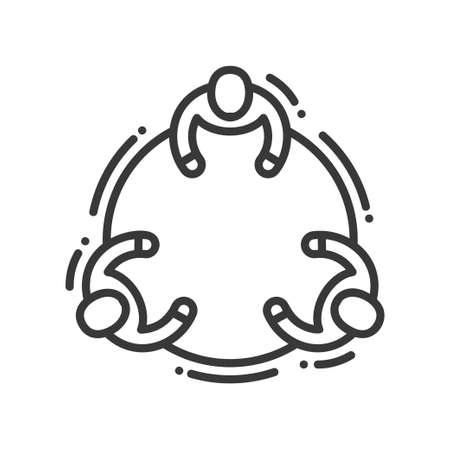 Kommunikation-Vektor moderne Linie Design illustrative Symbol