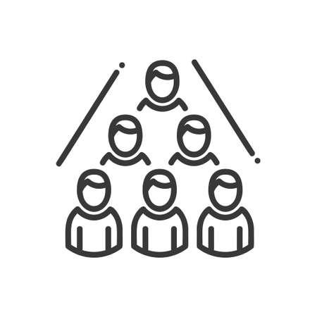 Business Network- vector modern line design illustrative icon