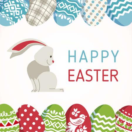 Happy Easter - modern vector card Illustration