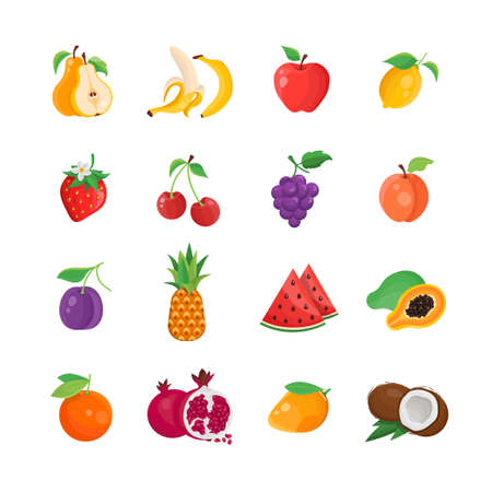 Natural Food - modern vector line icons set Illustration