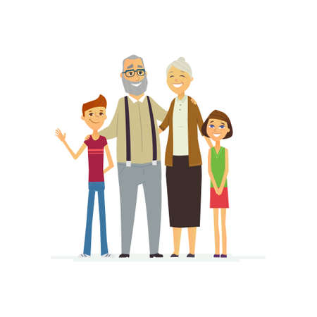 Family - colored modern flat illustration composition.