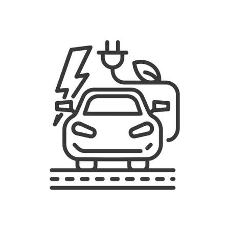 Electromotive - modern single line icon Illustration
