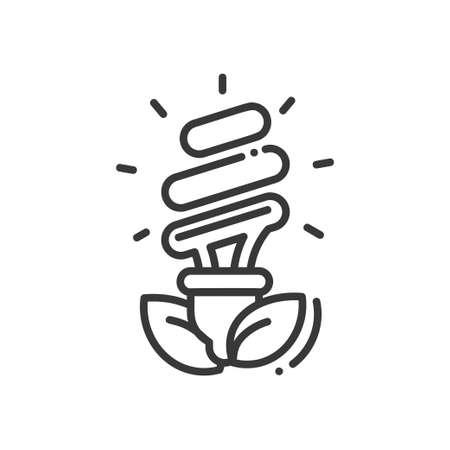 Bulb - modern vector single line icon Illustration