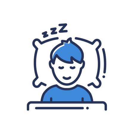 Sleep - modern vector single line icon  イラスト・ベクター素材
