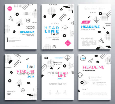 presentation booklet covers vector template pages set royalty free