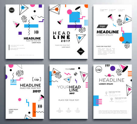 Presentation Booklet Covers - Vector Template Pages Set Royalty Free ...