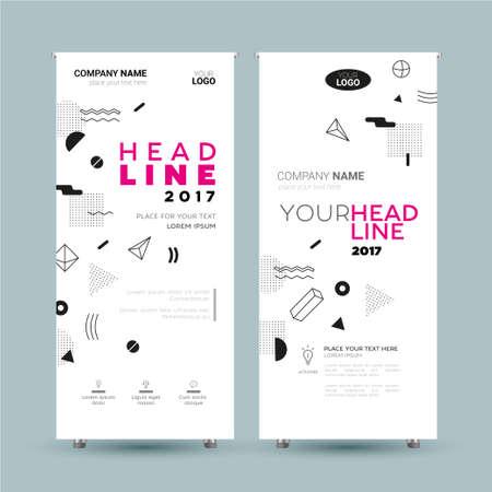 企業バナー - ベクトル テンプレート イラスト