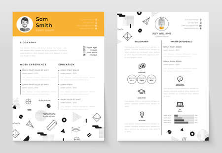 Personal Resume - vector template illustration